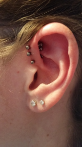 Triple anti-helix